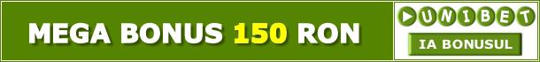 Unibet Pronosticuri Bonus 150 RON